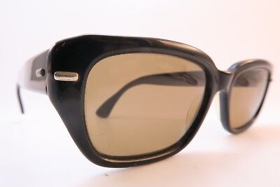 Vintage 60s sunglasses black acetate METZLER glass lens made in Germany