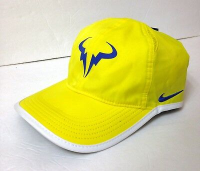 NEW NIKE RAFA TENNIS HAT Dry Fit Poly Rafael Nadal Yellow Blue Swoosh  Men Women -  23.99  010e8223945