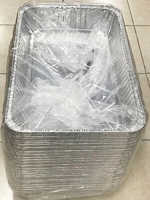 "Full Size 3 1/2"" Deep Aluminum Foil Disposable Steam Table Pans - 100/Case"