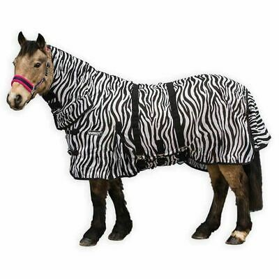 Loveson Zebra Fly Sheet with All-in-One Neck Design and Full Coverage Belly Wrap