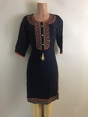 $19.99 Designer Embroidery work all over  Party wear Indian Kurta Classy Look M