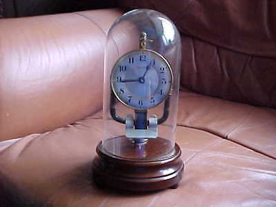 Vintage 1937 French Bulle Electric 800 Days Clock Under Dome