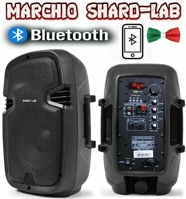 Coppia Casse Amplificate Attive Karaoke Monitor Dj Bluetooth + Usb/sd In Abs 8""