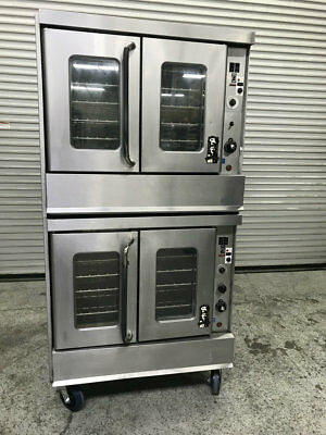 Double Stack Gas Convection Ovens Montague 115A #8133 Commercial Bakery Oven