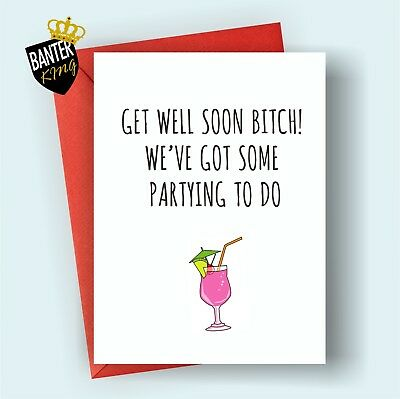 g9 get well feel better soon greeting card funny cute cheeky humour