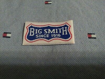 VTG NOS BIG SMITH since 1916 Clothing Tag Label Blue LOGO Overall Jeans Jacket