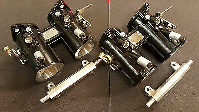 40mm twin throttle bodies, race car, kit car, DCOE spacing - includes fuel rails
