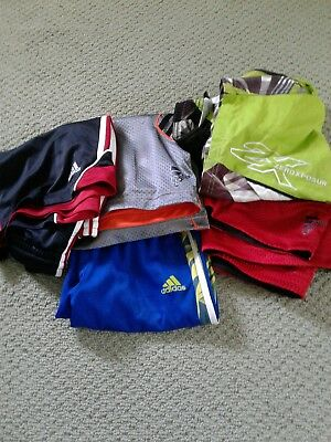 Lot of 4 Adidas Boys Shorts and Zero Xposular Bathing Suit - Med(10-12 )and Lg