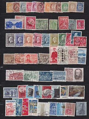 collection of early  Norway stamps