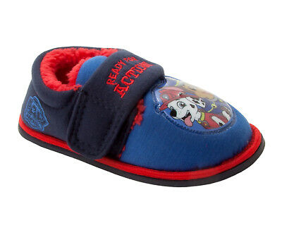 BOYS NICKELODEON PAW PATROL CHARACTER TOUCH FASTENING SLIPPERS UK SIZE 5-11