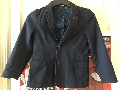 Boden Boys Navy Suit Jacket 7-8 Yrs