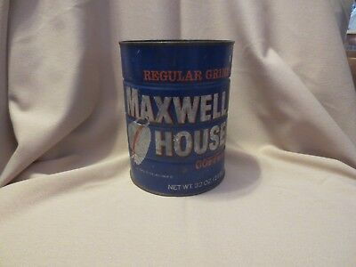 Vintage Maxwell House Coffee Regular Grind 2 LB Tin Can Good to the Last Drop