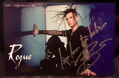 Cruxshadows postcard, autographed by Rogue!