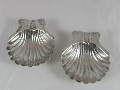 Vintage Mexican Sterling Silver Shell Shaped Ashtray w/Ball Feet x2 Pair