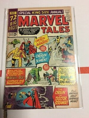 1965 MARVEL TALES #2 VG Reprints X-Men #1 Avengers #1 Strange Tales #115