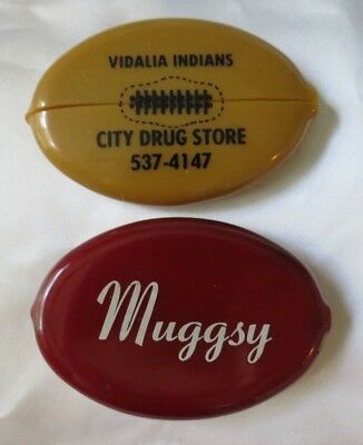 Vintage Lot Quikoin Advertising Squeeze Coin Purse - Muggsy -  Ga Football