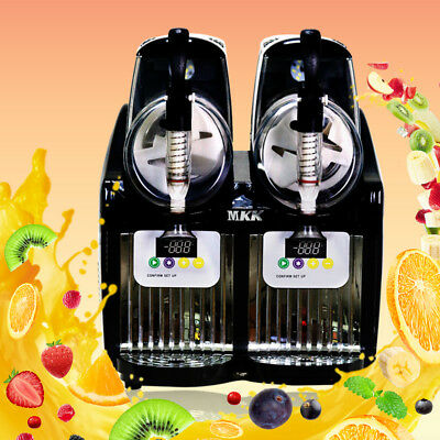 2 Tank Frozen Drink Slush Slushy Making Machine Juice Smoothie Maker 2*2.5L
