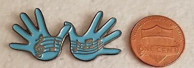 """""""THESE ARE JAZZ HANDS"""" BLUE Lapel Pin"""