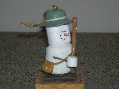 Vintage S'MORES Ornament~ FISHERMAN W/ FISHING ROD~ Smores