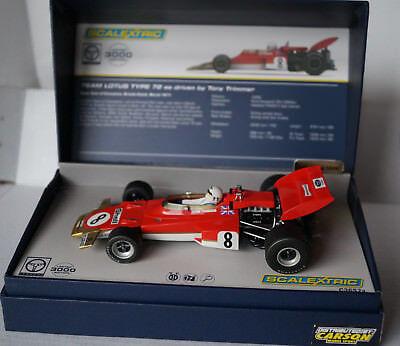 Scalextric Team Lotus Type 72 Tony Trimmer No 8 Brands Hatch 1971 Neu in Box