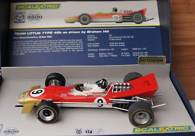 Scalextric Legends Team Lotus 49 Graham Hill GP Monaco 1968 No 9 Neu in Box Rot
