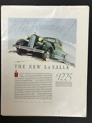 Vintage 1930s Automotive Ad - 1935 CADILLAC LASALLE - Suitable for Framing