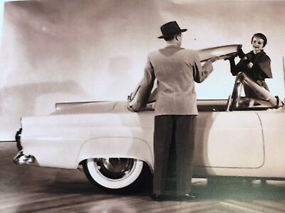 RARE 1950's FORD THUNDERBIRD PROTOTYPE 8x10 PHOTO PHOTOGRAPH CORVETTE