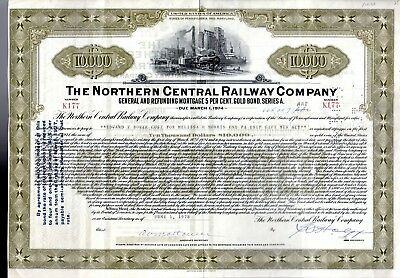 Northern Central Railway Company 1978 Mortgage Bond Certificate - olive