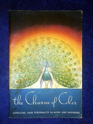 1936 Vintage Monroe Chemical Co The Charm of Color Putnam No - Kolor Bleach Book
