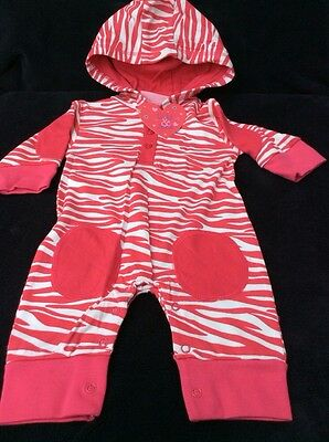 BNWT Girls Pink Hooded Play Suit By Lily & Jack (0-3 Mths) *REDUCED*