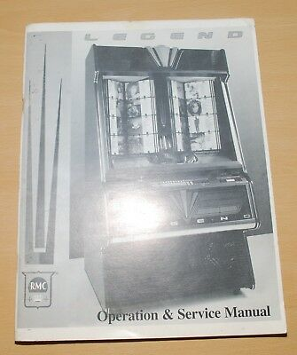 Rock-Ola Legend Rmc Cd Jukeboxes Operation & Service Manual 52 Pages