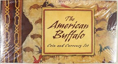 1 ounce .999 silver 2001 American Buffalo Coin & Currency Set UNOPENED SEALED