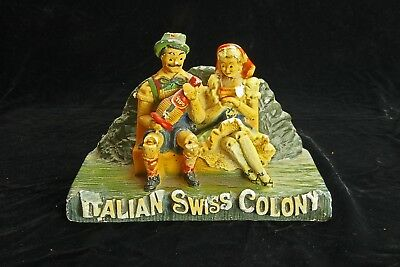 Vintage Italian Swiss Colony Plasto Chalkware Store Display - NEWLY REDUCED!