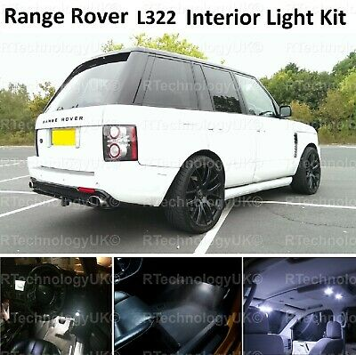 Premium Range Rover Vogue L322 2002-2012 Led Interior Kit Lights Xenon White