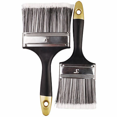 2 pc 3 Inch and 4 Inch Paint Painting Deocrating Brush Set