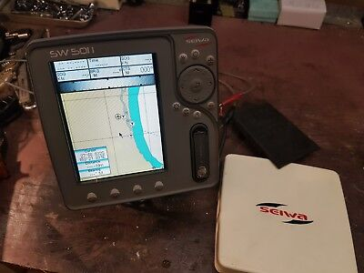 Seiwa SW5011 GPS Chart Plotter Incl base suncover and cable Inbuild gps antenna
