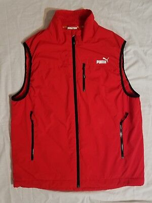 Puma Volvo Ocean Race Round The World Vest Size Large Red Great Shape  Unisex