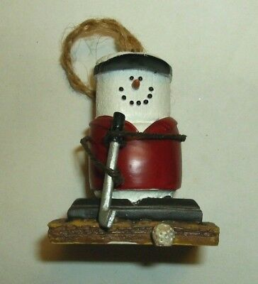Original S'mores Midwest Ornament Golfer with Club Ball & Red Shirt Black Visor