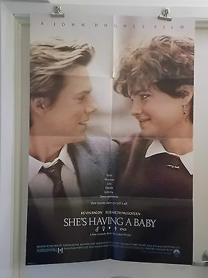 SHE'S HAVING A BABY one 1 sheet movie poster KEVIN BACON ELIZABETH McGOVERN ORIG