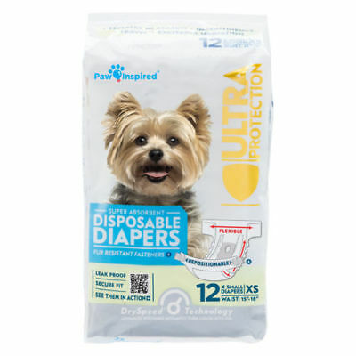 131ct Dog Diapers Disposable Doggie Diapers Paw Inspired Diapers  Small  Bulk