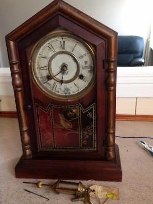 Antique New Haven Americian  Mantal Clock c 1870s