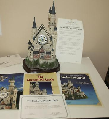 """Stunning Danbury Mint 12""""H The Enchanted Castle Clock Mint with Box and COA"""