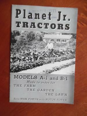 1941 Planet Jr A-1 B-1 Garden Tractor Catalog S.L. Allen Co Philadelphia Vintage