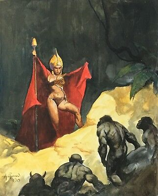 FANTASY ART COMMISSION 18x24 OIL PAINTING by Mike Hoffman!