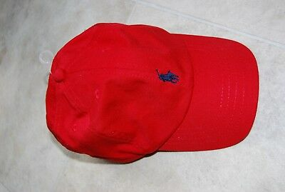 Ralph Lauren Polo baseball hat boys size 4-7 red 53 cm