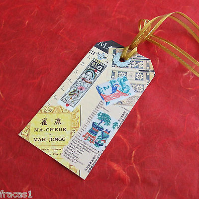 Set 6 Mahjong Stationery Gift Tags or Bookmarks ~ Inspired by Vintage Mahjongg