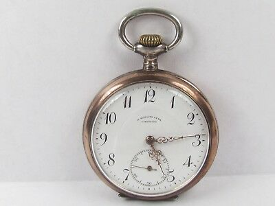 Antique Star 15 Jewel Manual Wind Pocket Watch Swiss .800 Silver Running