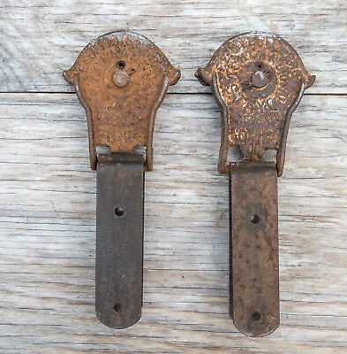 Antique F.E. MYERS Barn Door Rollers STAYON OK with Mounting Brackets