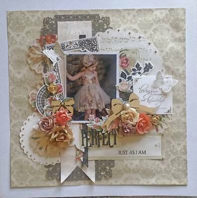 Handmade Premade Scrapbook Page Layout 12 X 12 - Perfect