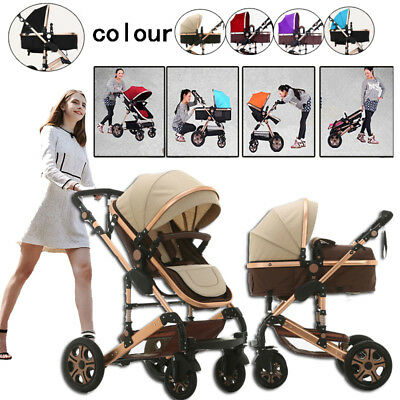 8 in 1 Foldable Newborn Carriage Travel Pram Baby Stroller & Bassinet Pushchair